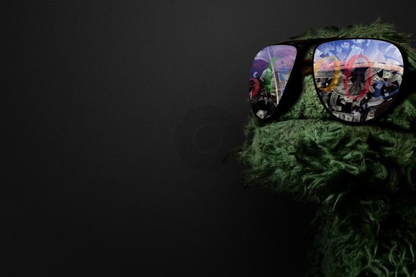 Oscar the Grouch, Google, and Google Chrome Wallpaper.