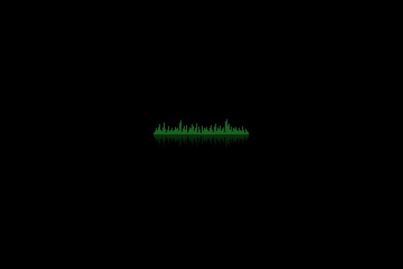 3840x2160 Wallpaper background, equalizer, dark, lines, ribbed, green