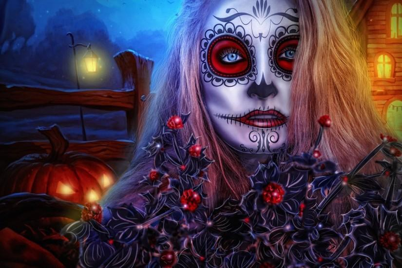 Face Makeup Sugar Skull · HD Wallpaper | Background ID:776985