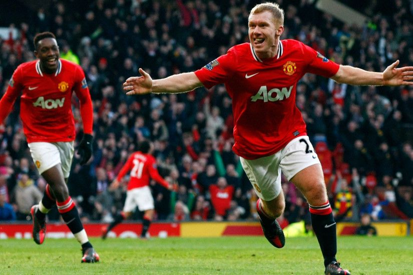 Preview wallpaper football, field, paul scoles, manchester united, pleasure  1920x1080