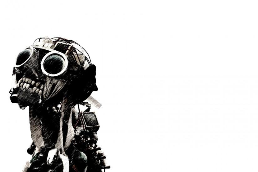 Zombies Wallpaper 1920x1200 Robots, Zombies, Cyborgs, Scary, White .