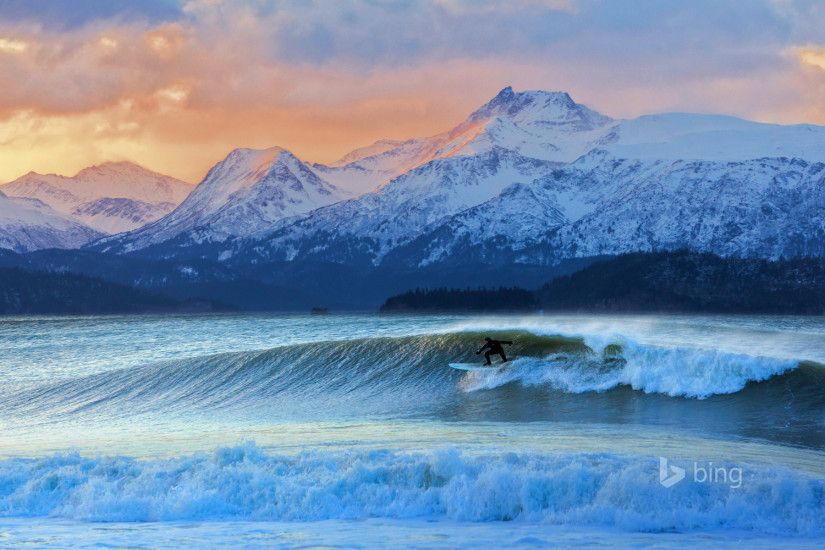 Don Iceman Mcnamara Surfing In wallpapers and stock photos