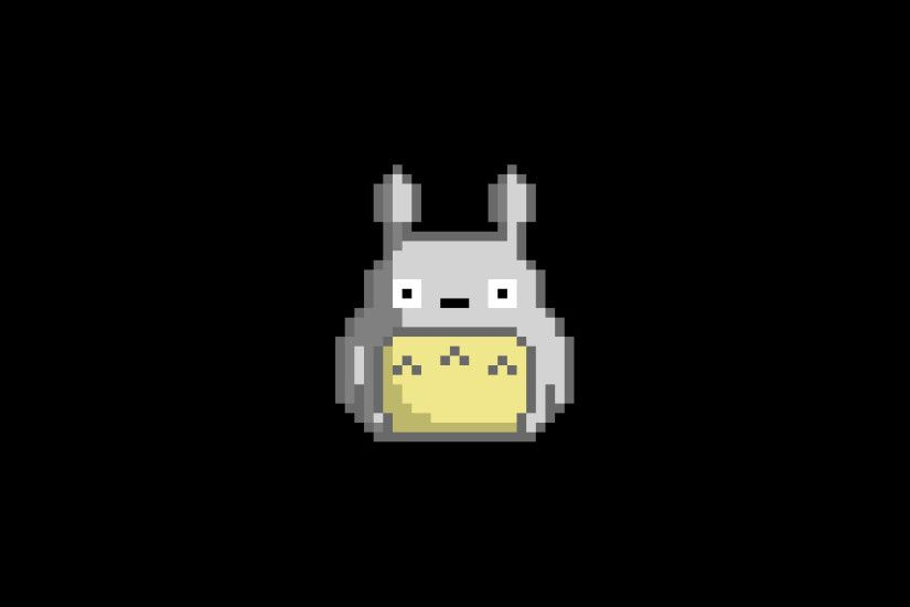 pixel art, Pixels, Totoro, My Neighbor Totoro Wallpaper HD