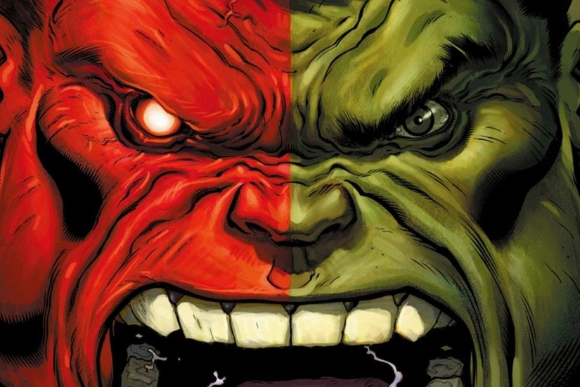 Preview wallpaper hulk, marvel comics, art, aggression 2048x2048