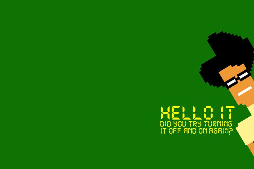 The IT Crowd Green 8-Bit game computer wallpaper | 2880x1800 | 153256 |  WallpaperUP