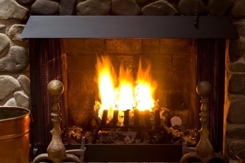 3840x1200 Wallpaper fireplace, cozy, interior, lamp