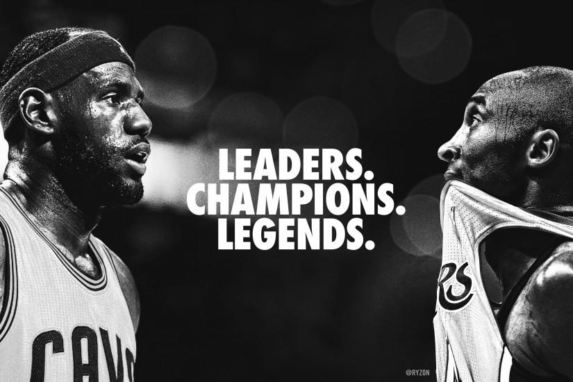 [WALLPAPER] My final tribute to Kobe and LeBron, two of the finest players  of the last 20 years.