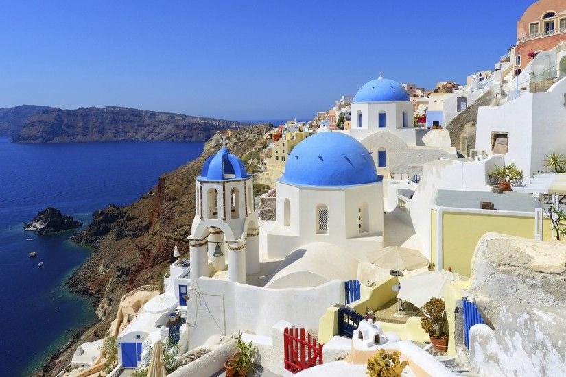 Man Made - Santorini Wallpaper