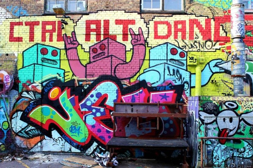 Graffiti Dance Some graffiti on a wall. Dance Graffiti Wallpapers
