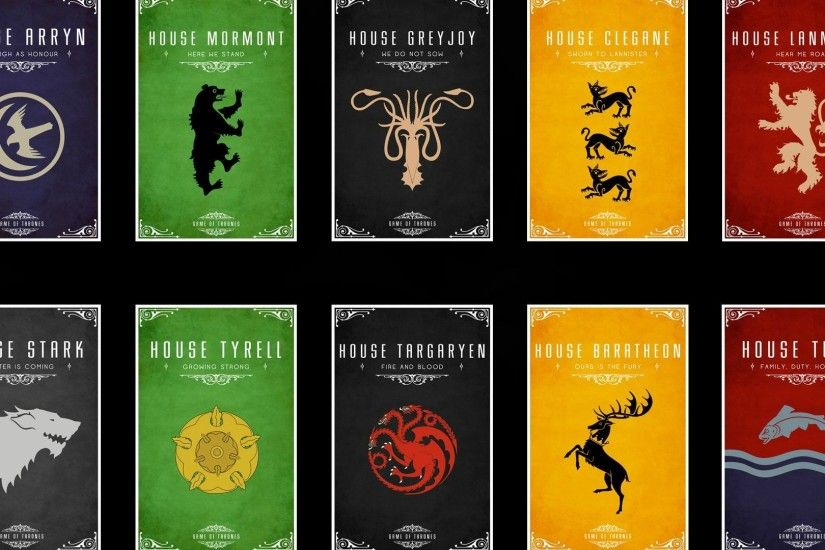 Game of Thrones houses HD Wallpaper 1920x1080 Game ...