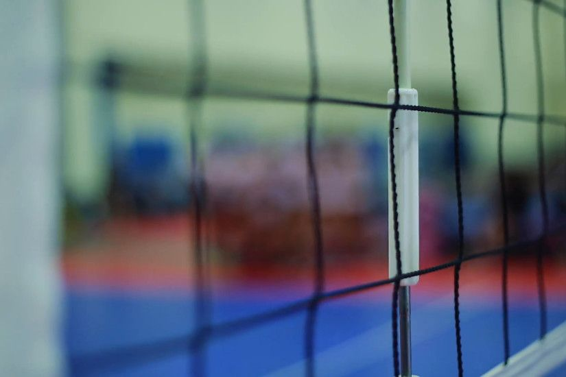 Close-up of Volleyball net and shot of players during Time-out Stock Video  Footage - VideoBlocks