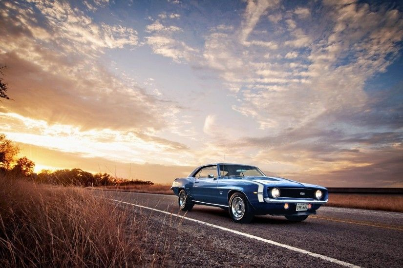 Old Muscle Cars Desktop Wallpaper