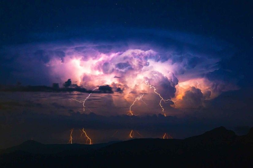 Sky Thunderstorm Nature Rain Storm Clouds Lightning Desktop Wallpapers Free  Download