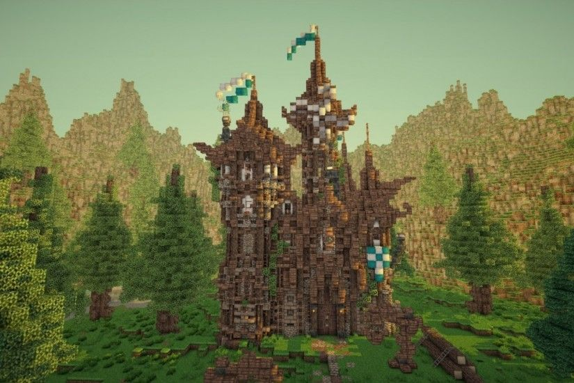 Preview wallpaper minecraft, game, mojang ab, elements of survival, open  world 1920x1080