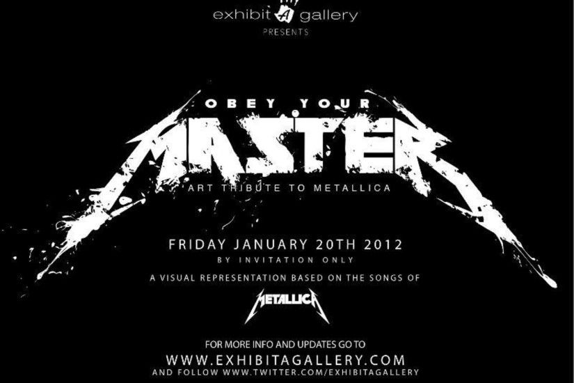 "Save the Date: ""Obey Your Master"" Art Tribute to Metallica at Exhibit A  Gallery - PAPERMAG"