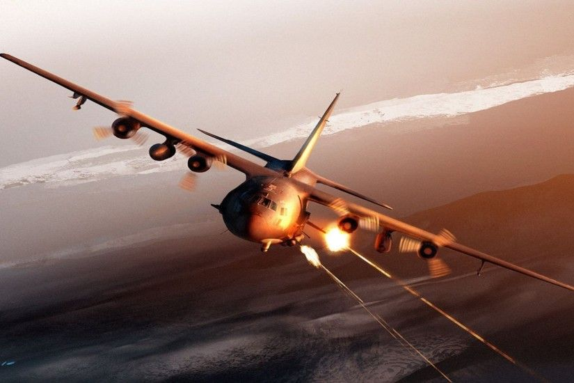 9 Lockheed AC-130 HD Wallpapers | Backgrounds - Wallpaper Abyss
