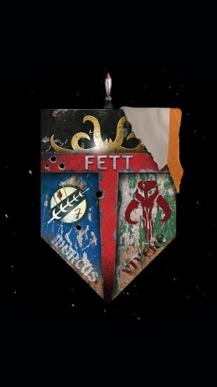 Star Wars Family Crest Fett Dead Or Alive iPhone 6+ HD Wallpaper