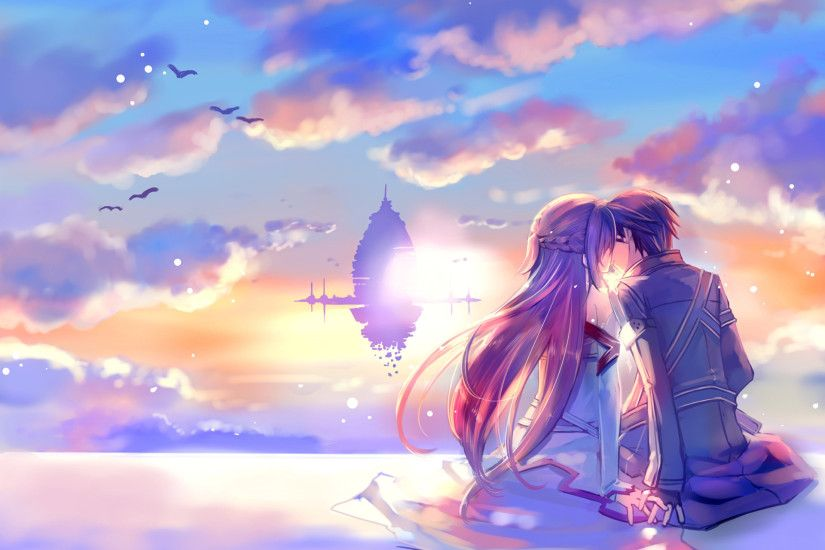 Very Beautiful Sky Sword Art Online Wallpaper This Romantic Couple Ornament  Manufacturing Important Design