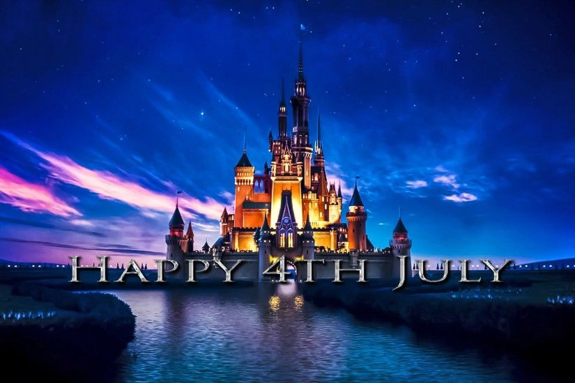 Disney Castle Flies the Stars and Stripes for the 4th of July - YouTube