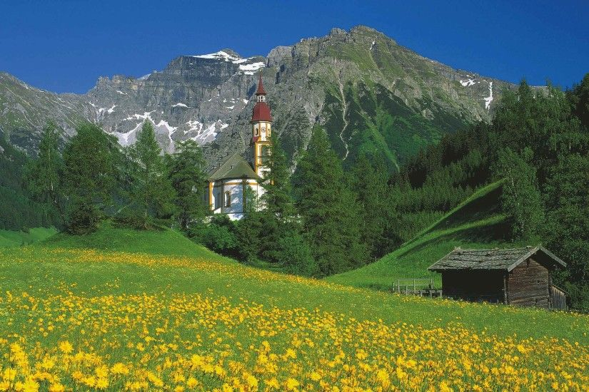 Landscapes Landscape Mountains Austria House Church Beautiful Nature HD  Wallpapers Free Download