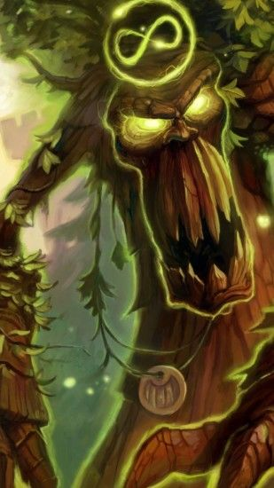 1440x2560 Wallpaper hearthstone, druid, soul of the forest, ancien