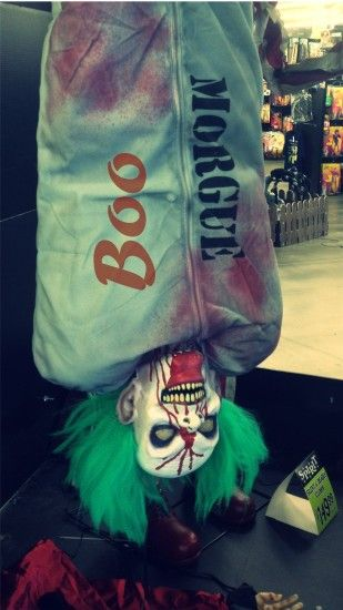 Creepy 2014 Halloween Boo iPhone 6 plus wallpapers of clown - morgue #2014  #Halloween