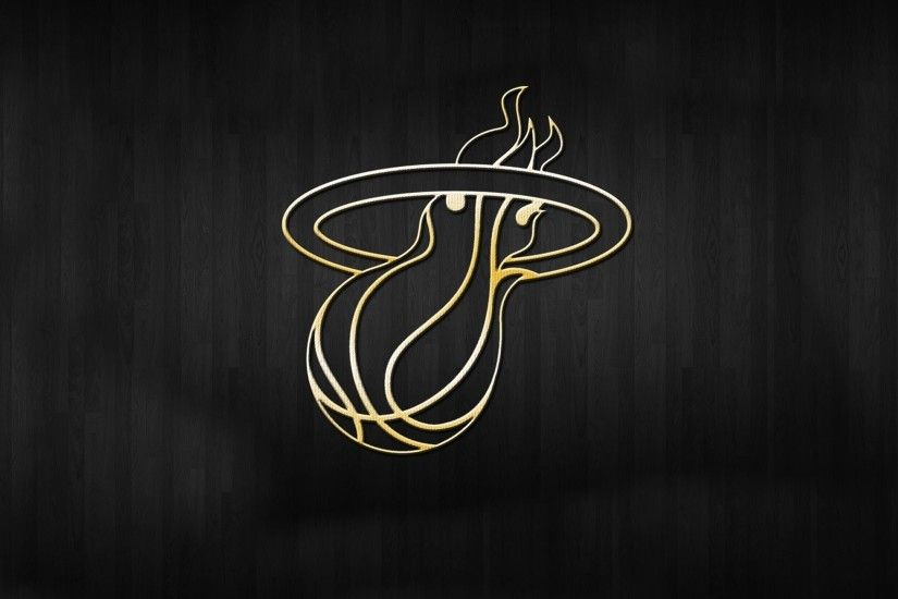 miami heat logo background nba gold
