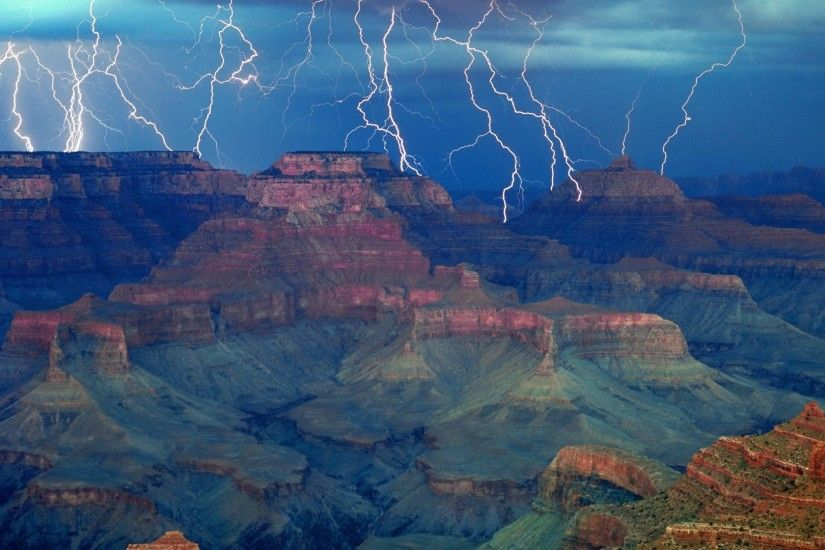 Download Background - The Gathering Storm, Grand Canyon National Park,  Arizona - Free Cool Backgrounds and Wallpapers for your Desktop Or Laptop.