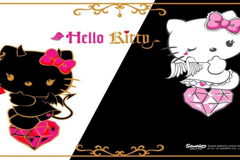 Hello Kitty black and white Wallpaper | HD Wallpapers, backgrounds .