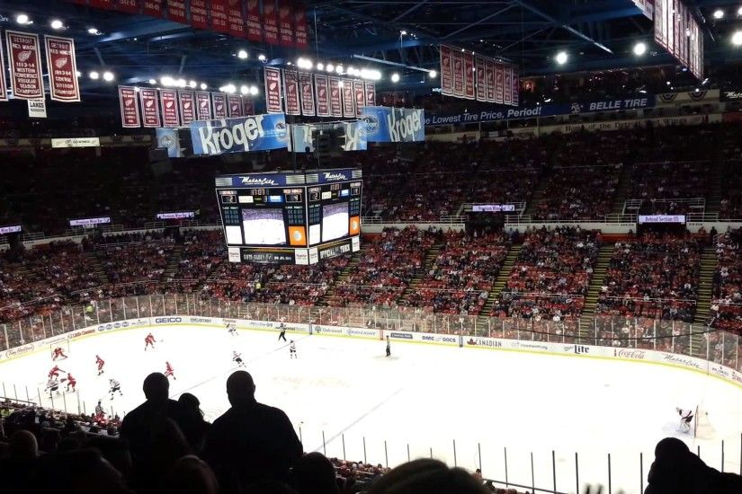 Detroit Red Wings game at Joe Louis Arena with kids