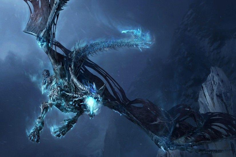 2560x1440 Wallpaper world of warcraft, dragon, cold, mountain