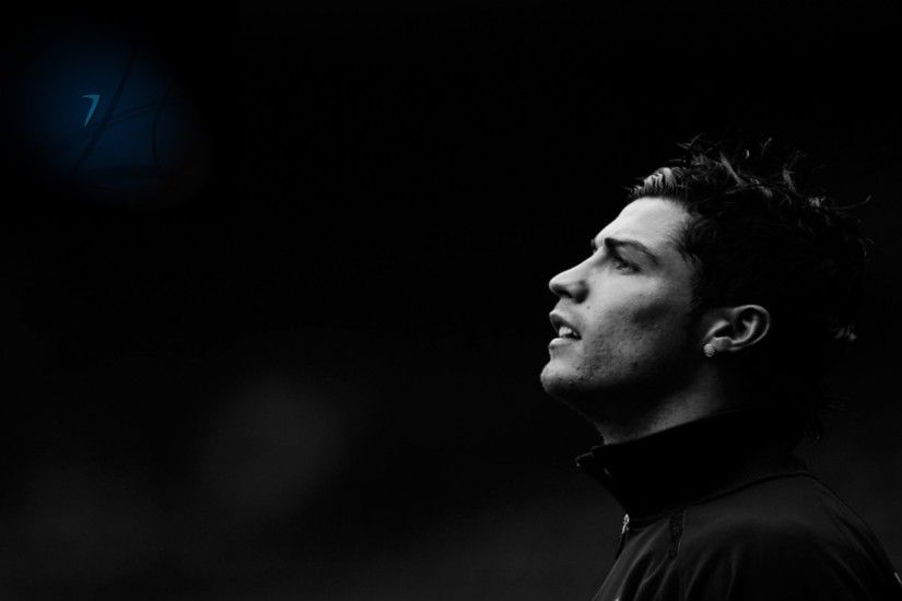 Cristiano Ronaldo HD Black Wallpaper