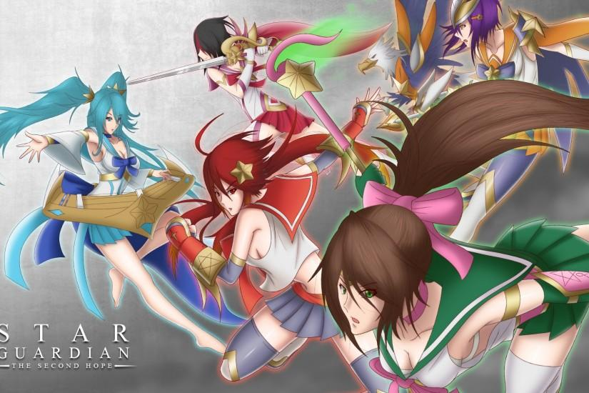 Star Guardian Janna, Sona, Fiora, Quinn, Akali & Shyvana by CLeRu087 HD