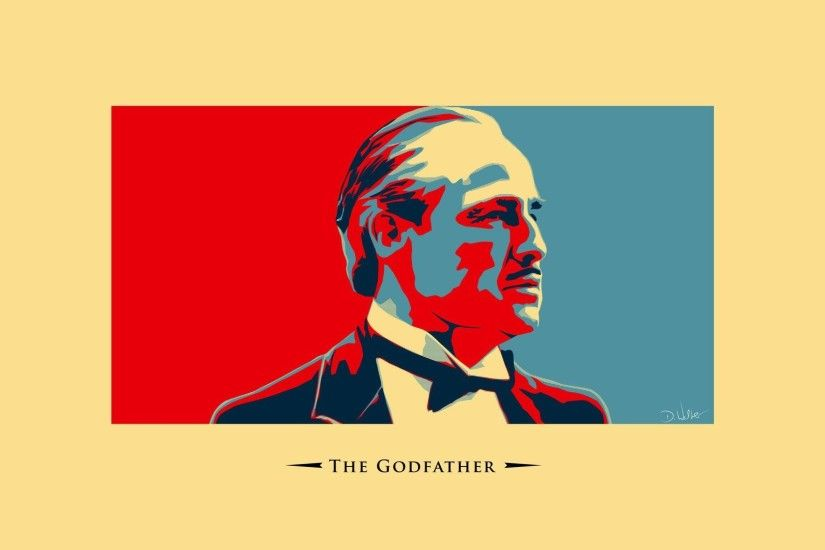 godfather vector style classic a movie film marlon brando