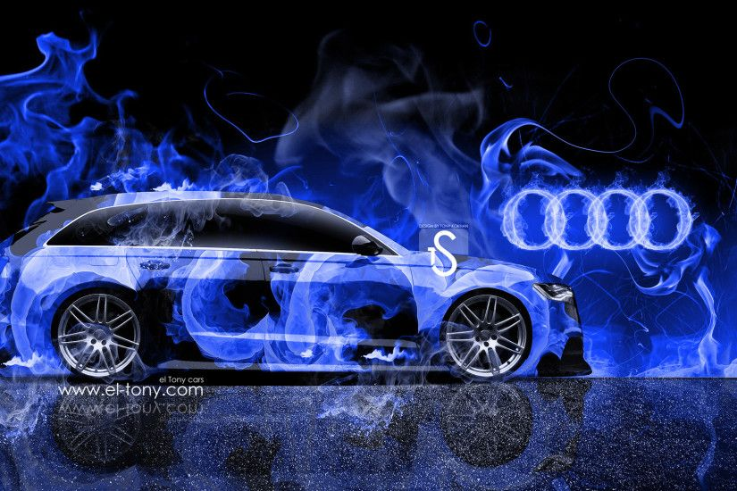 Audi-A6-Avant-Quattro-Blue-Fire-Abstract-Car- ...