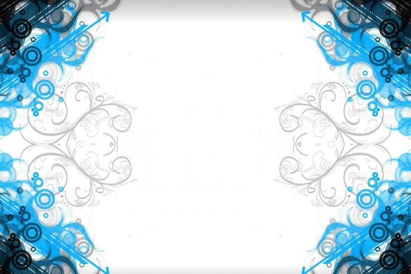 Abstract White Blue