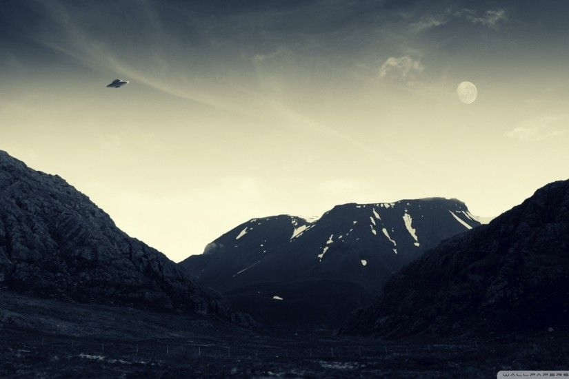 ... ufo flying hd desktop wallpaper widescreen high definition ...