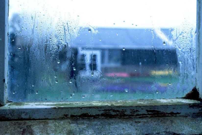 Wet Window After Rain Wallpaper Wallpaper