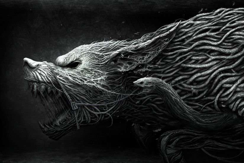 Wolf Black And White Wallpaper Free Background Desktop Imagesfree .