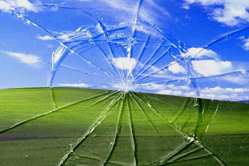 Green hills behind broken Top HD Glass wallpapers