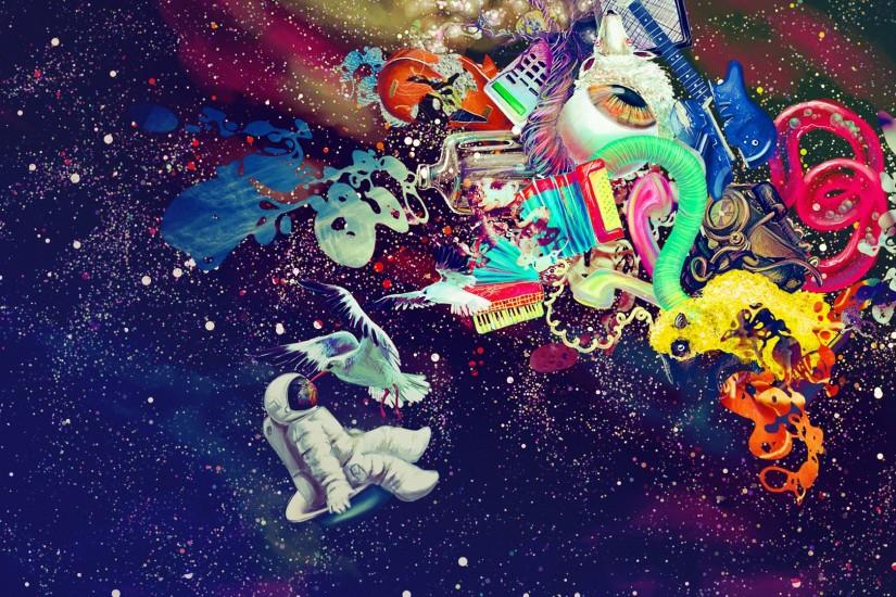 psychedelic space : Desktop and mobile wallpaper : Wallippo Tumblr  Backgrounds Weed Girls