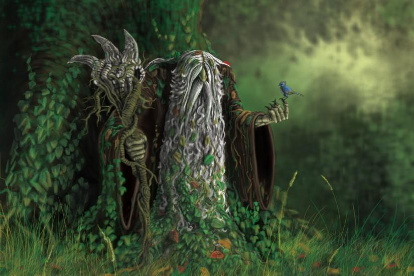 Old druid elves forest nature pagan nordic HD Wallpaper