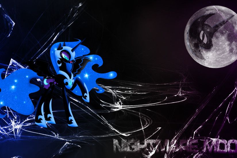 ... Nightmare Moon (Wallpaper) by Hardii