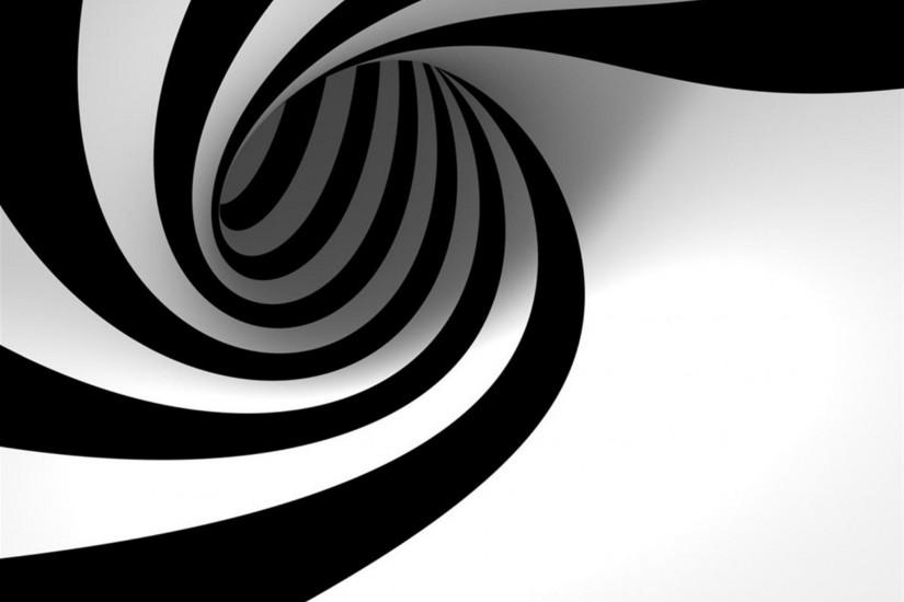 3D hypnotic spiral background