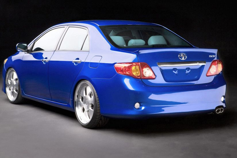 Pimped Cars Wallpapers Unique Blue toyota Corolla Rear Wallpaper 6173  Download Page