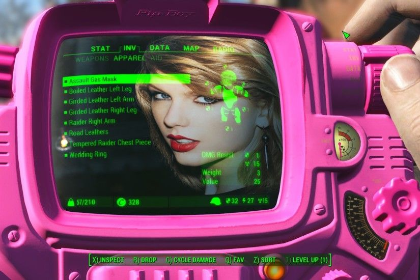 TheXzi's Taylor Swift Pit-Boy Background image mod v1.0 at Fallout 4 Nexus  - Mods and community