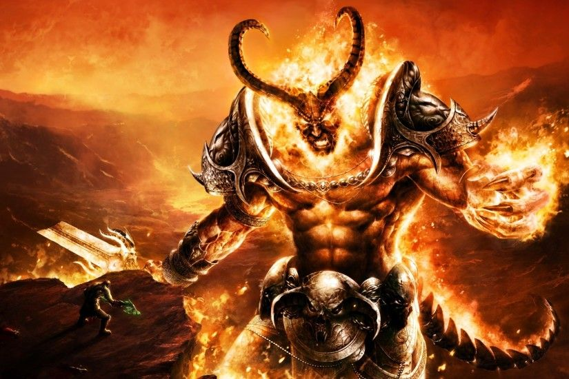 Hd Wallpapers Cool Fantasy Wallpaper Burning Demon X HD Wallpaper, Demonhd  Wallpapers P, Hd