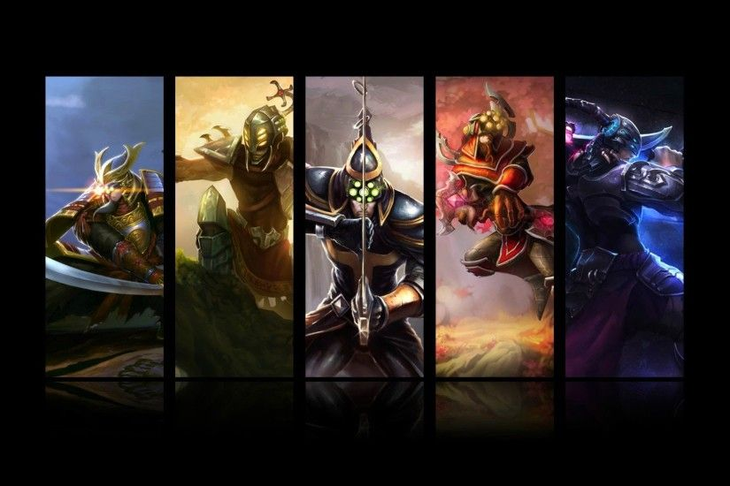 master yi all skin splash league of legends hd wallpaper lol