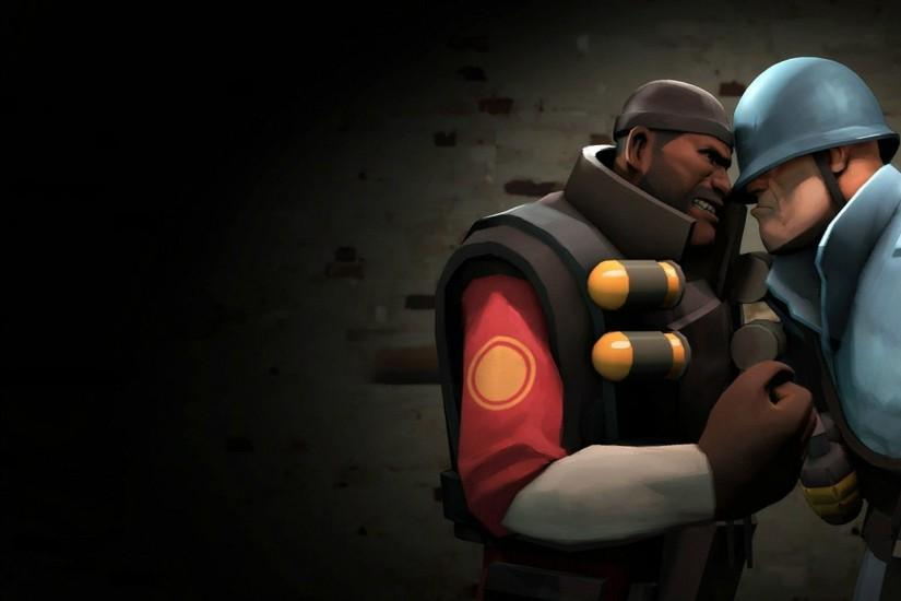 TF2 Demoman vs Soldier wallpaper - Game wallpapers - #