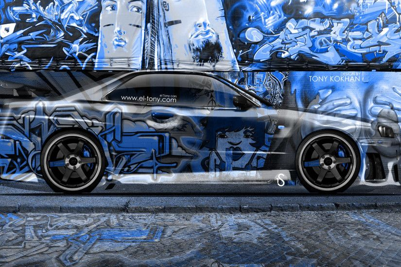 ... Nissan-Skyline-GTR-R34-JDM-Side-Crystal-Graffiti- ...
